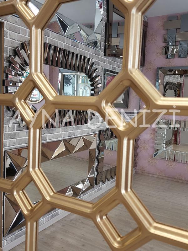 Rennes Model Altın Renk Dekoratif Pencere Ayna-14