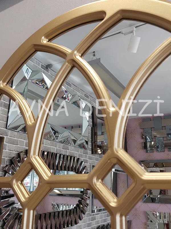Rennes Model Altın Renk Dekoratif Pencere Ayna-15
