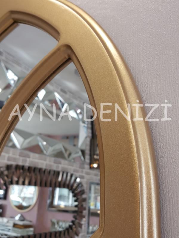 Rennes Model Altın Renk Dekoratif Pencere Ayna-17