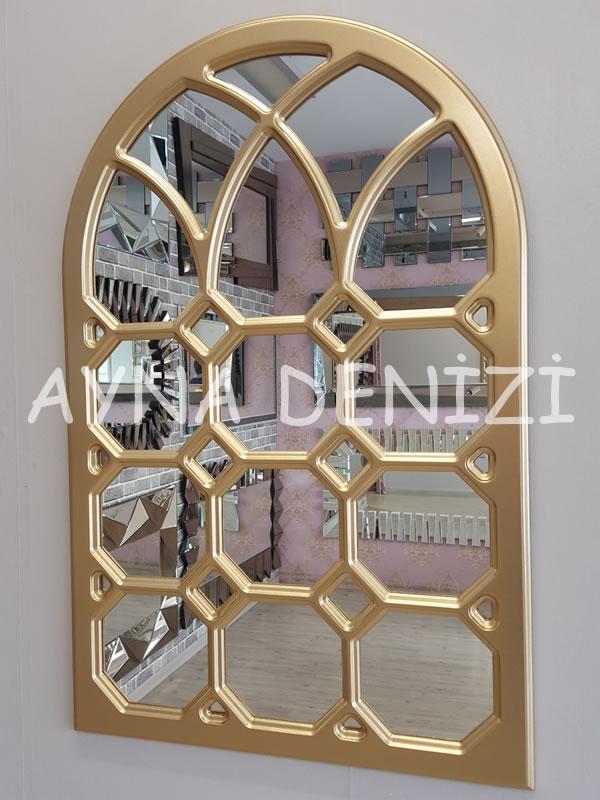 Rennes Model Altın Renk Dekoratif Pencere Ayna-2