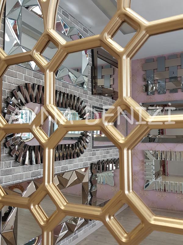Rennes Model Altın Renk Dekoratif Pencere Ayna-20