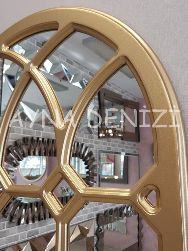 Rennes Model Altın Renk Dekoratif Pencere Ayna-24