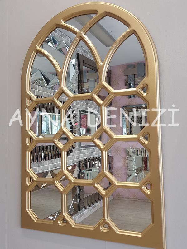 Rennes Model Altın Renk Dekoratif Pencere Ayna-3