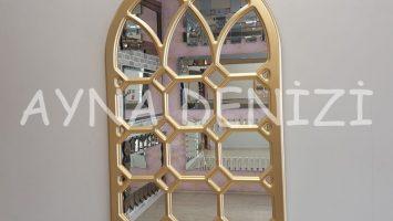 Rennes Model Altın Renk Dekoratif Pencere Ayna