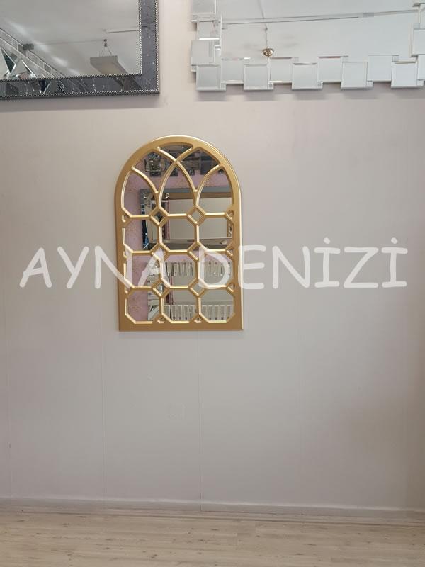 Rennes Model Altın Renk Dekoratif Pencere Ayna-4