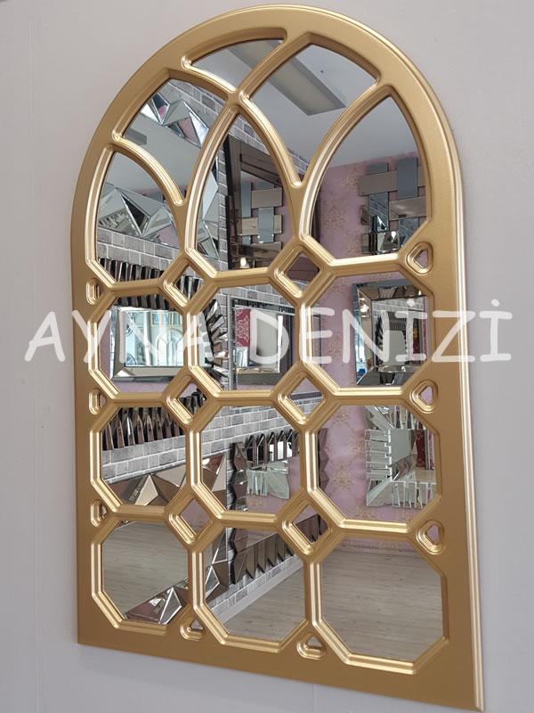Rennes Model Altın Renk Dekoratif Pencere Ayna-6