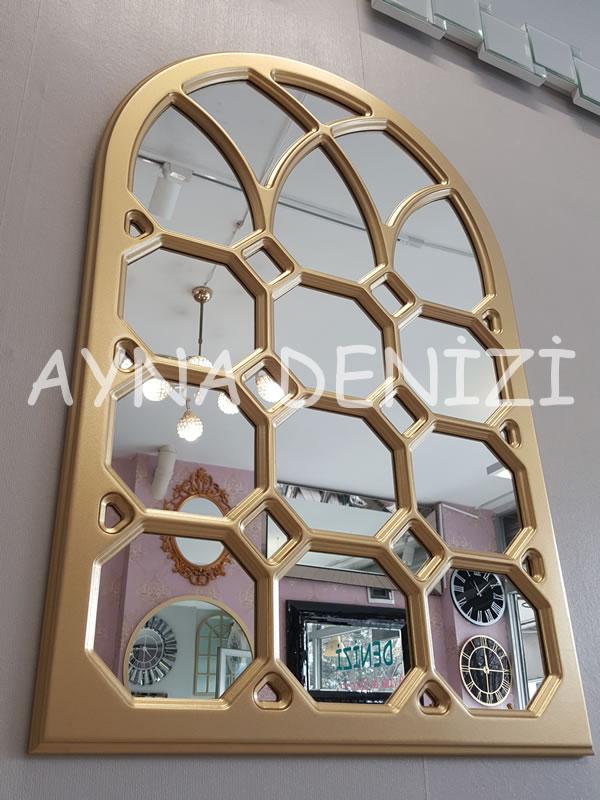 Rennes Model Altın Renk Dekoratif Pencere Ayna-8