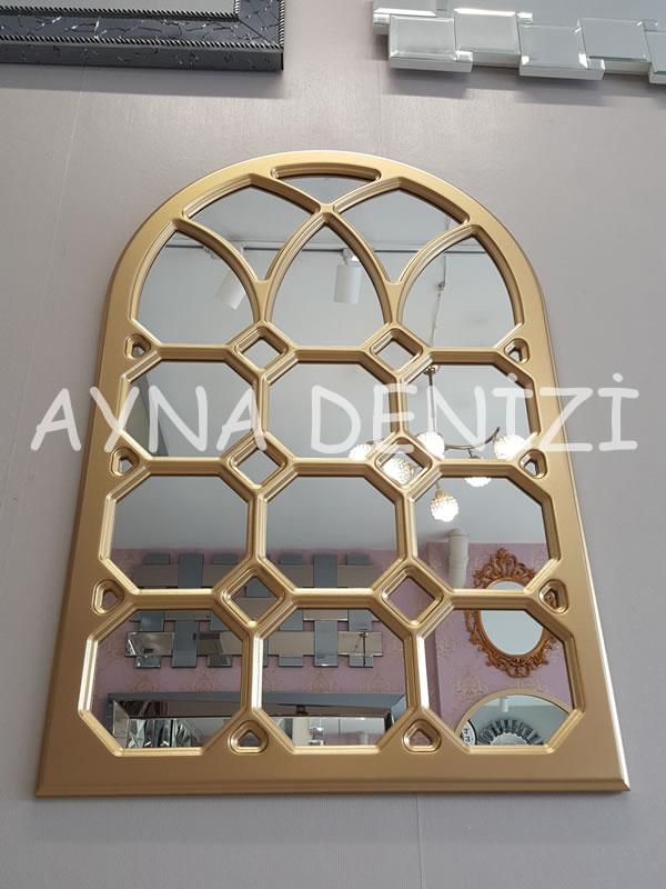 Rennes Model Altın Renk Dekoratif Pencere Ayna-9