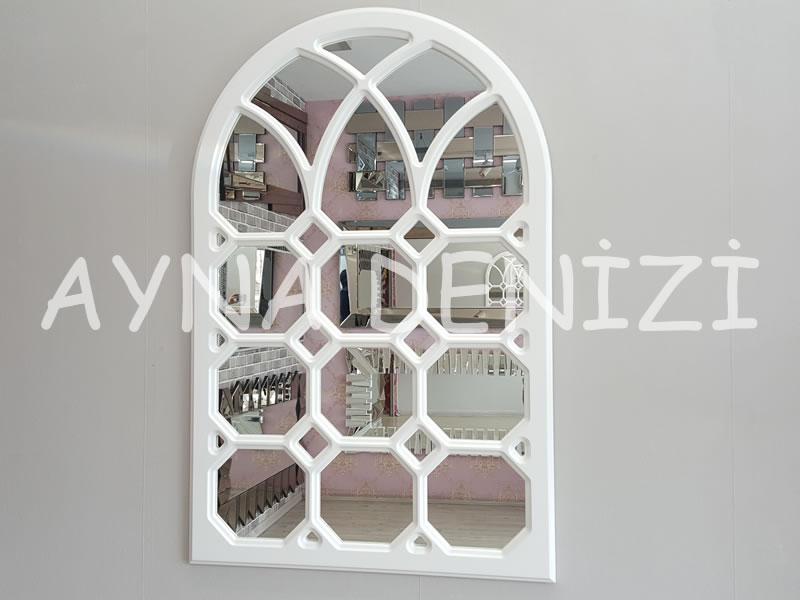 Rennes Model Beyaz Renk Dekoratif Pencere Ayna-1
