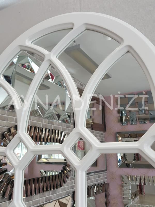 Rennes Model Beyaz Renk Dekoratif Pencere Ayna-11