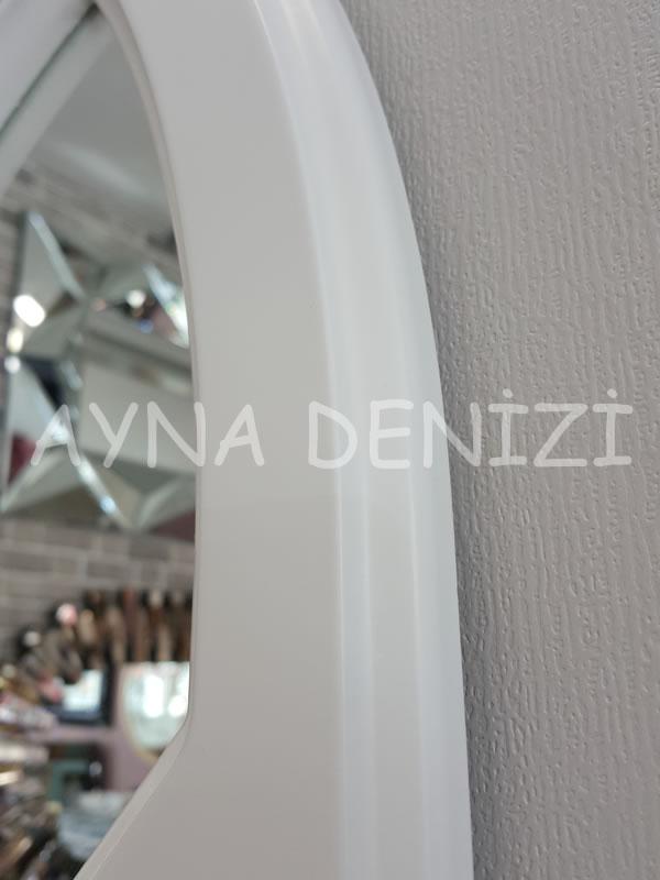 Rennes Model Beyaz Renk Dekoratif Pencere Ayna-12