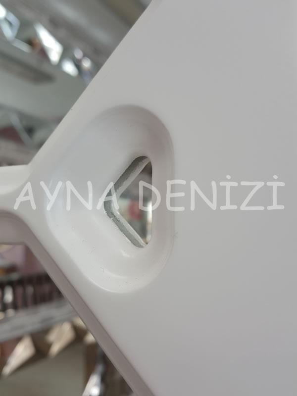 Rennes Model Beyaz Renk Dekoratif Pencere Ayna-15