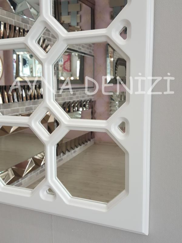 Rennes Model Beyaz Renk Dekoratif Pencere Ayna-19
