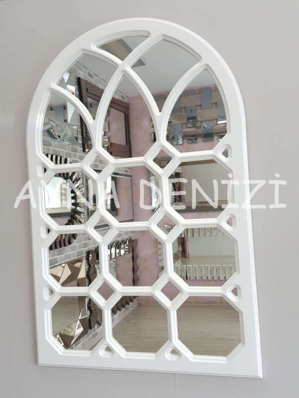 Rennes Model Beyaz Renk Dekoratif Pencere Ayna-2