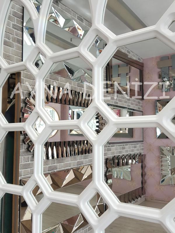 Rennes Model Beyaz Renk Dekoratif Pencere Ayna-20