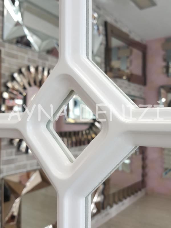 Rennes Model Beyaz Renk Dekoratif Pencere Ayna-21
