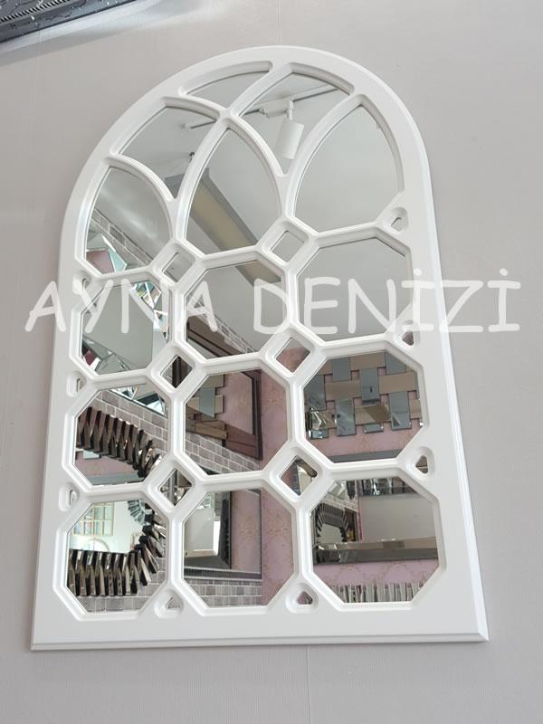 Rennes Model Beyaz Renk Dekoratif Pencere Ayna-4