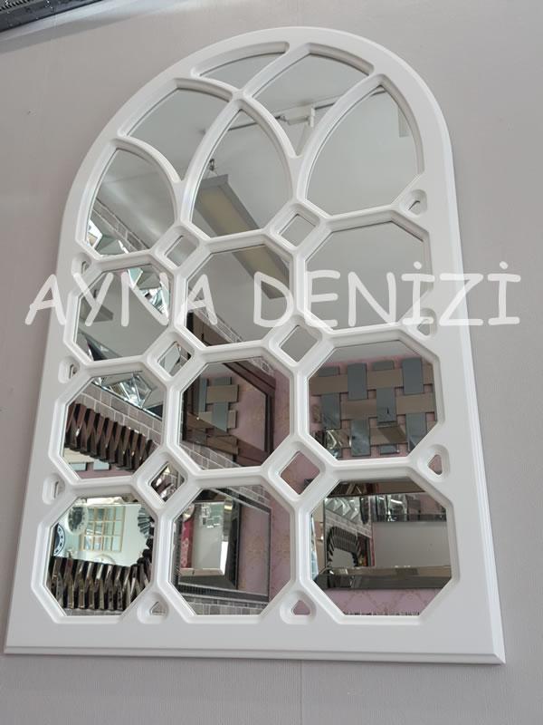 Rennes Model Beyaz Renk Dekoratif Pencere Ayna-6