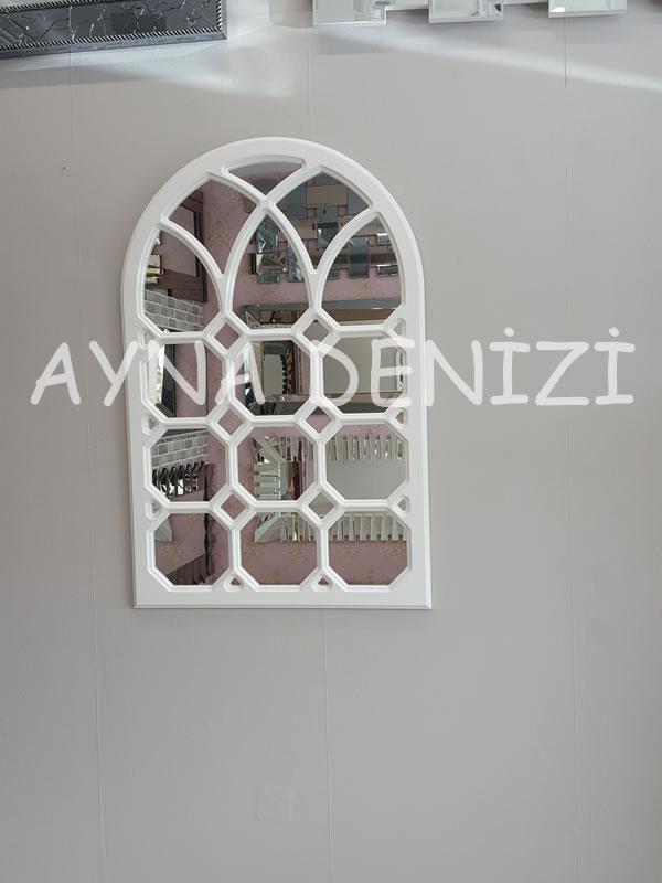Rennes Model Beyaz Renk Dekoratif Pencere Ayna-7