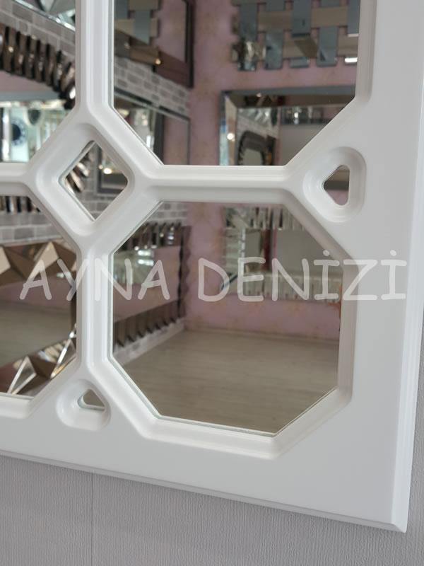 Rennes Model Beyaz Renk Dekoratif Pencere Ayna-9