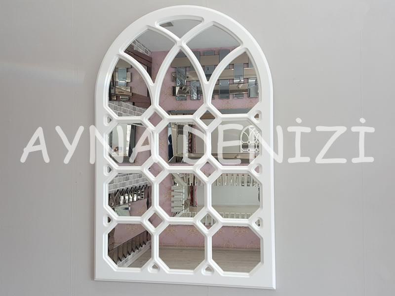 Rennes Model Beyaz Renk Dekoratif Pencere Ayna