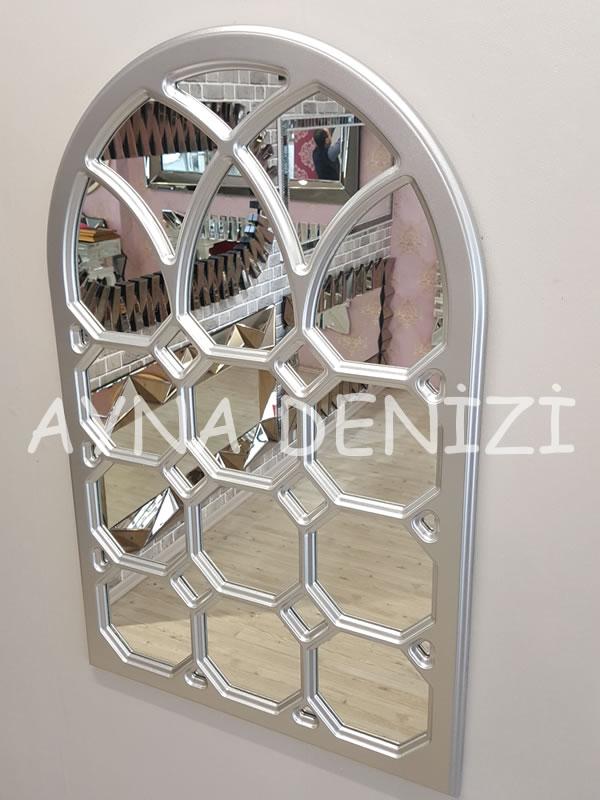 Rennes Model Gümüş Renk Dekoratif Pencere Ayna-11