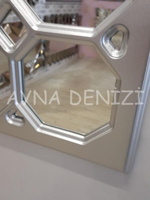 Rennes Model Gümüş Renk Dekoratif Pencere Ayna-16