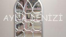 Rennes Model Gümüş Renk Dekoratif Pencere Ayna