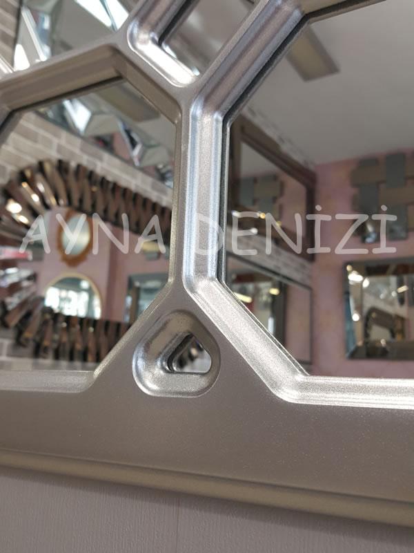 Rennes Model Gümüş Renk Dekoratif Pencere Ayna-24
