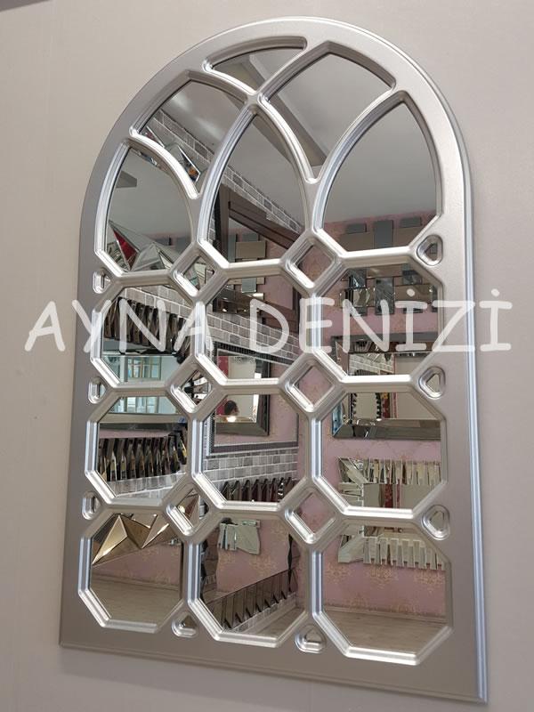 Rennes Model Gümüş Renk Dekoratif Pencere Ayna-4