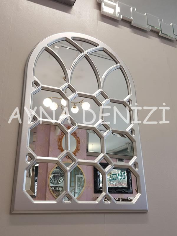 Rennes Model Gümüş Renk Dekoratif Pencere Ayna-5