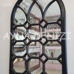 Rennes Model Siyah Renk Dekoratif Pencere Ayna-10