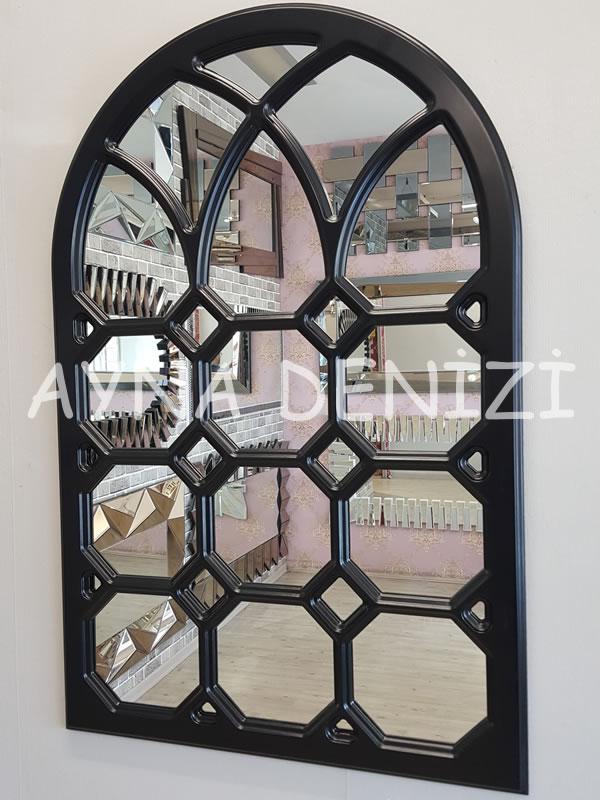 Rennes Model Siyah Renk Dekoratif Pencere Ayna-11