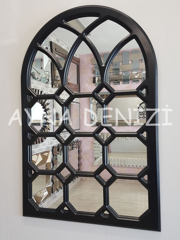 Rennes Model Siyah Renk Dekoratif Pencere Ayna-2Rennes Model Siyah Renk Dekoratif Pencere Ayna-2