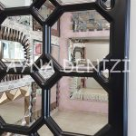 Rennes Model Siyah Renk Dekoratif Pencere Ayna-21
