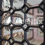 Rennes Model Siyah Renk Dekoratif Pencere Ayna-22