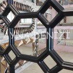 Rennes Model Siyah Renk Dekoratif Pencere Ayna-23