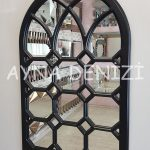 Rennes Model Siyah Renk Dekoratif Pencere Ayna-3