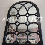 Rennes Model Siyah Renk Dekoratif Pencere Ayna-4
