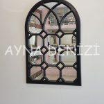 Rennes Model Siyah Renk Dekoratif Pencere Ayna-7