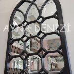 Rennes Model Siyah Renk Dekoratif Pencere Ayna-8