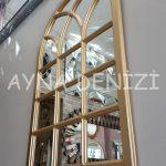 Savona Model Altın Renk Dekoratif Pencere Ayna-13
