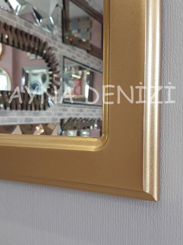 Savona Model Altın Renk Dekoratif Pencere Ayna-15