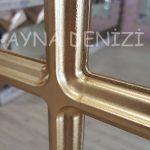 Savona Model Altın Renk Dekoratif Pencere Ayna-18