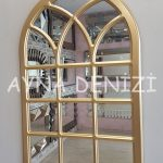 Savona Model Altın Renk Dekoratif Pencere Ayna-2