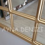 Savona Model Altın Renk Dekoratif Pencere Ayna-22