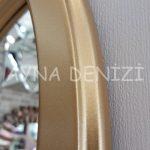 Savona Model Altın Renk Dekoratif Pencere Ayna-24