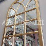 Savona Model Altın Renk Dekoratif Pencere Ayna-8