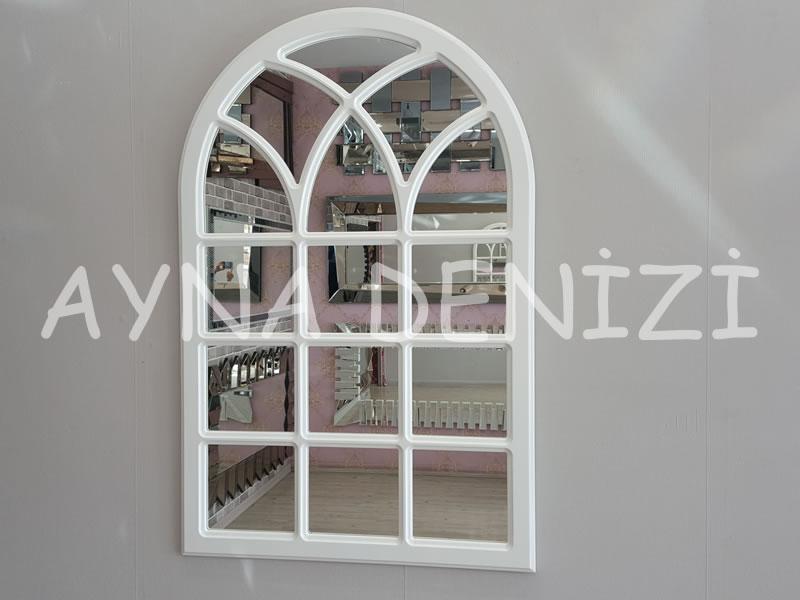 Savona Model Beyaz Renk Dekoratif Pencere Ayna-1