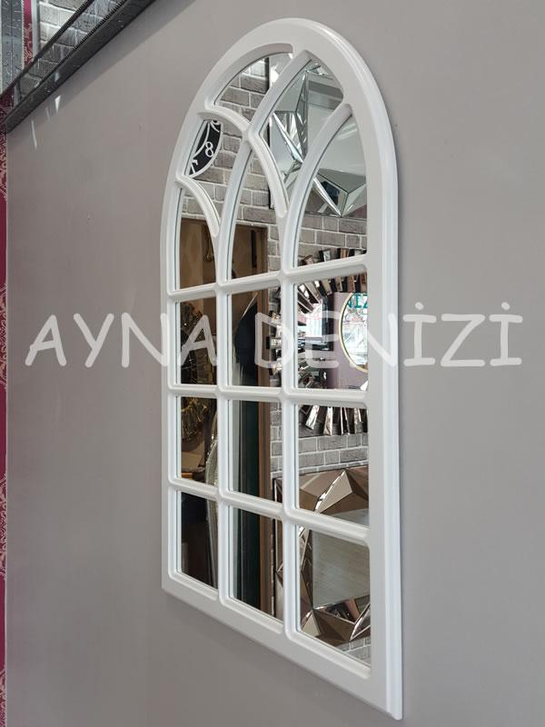 Savona Model Beyaz Renk Dekoratif Pencere Ayna-14